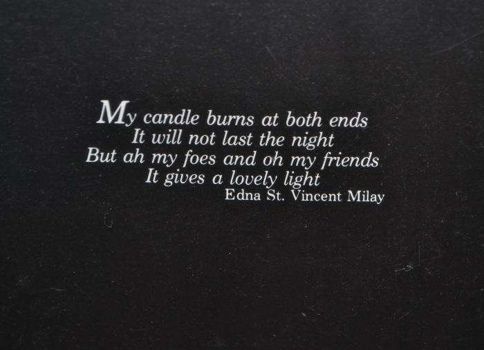 Edna St. Vincent Miller Poem